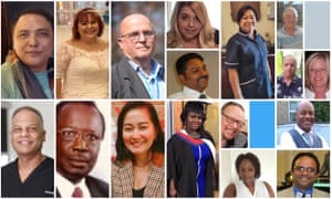 Some of the healthcare workers who have died in the UK.