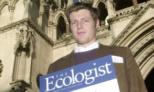 As editor of the Ecologist in 2002.