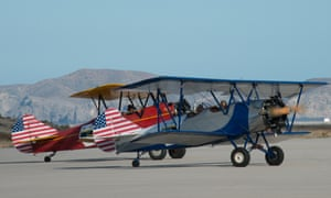 Two US entrants prepare to take off from Crete