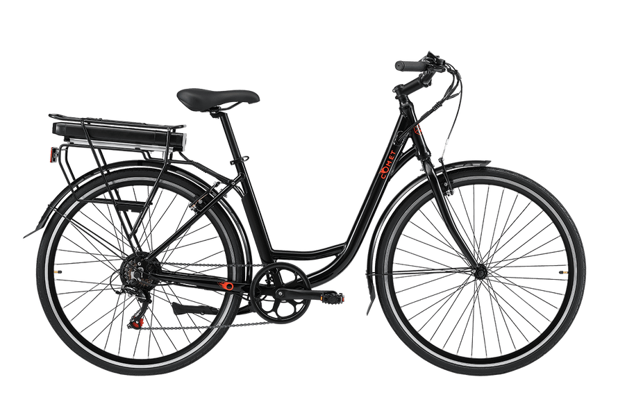 A Pedal Comet ST Electric Cruiser Bike, one of the most affordable on the market