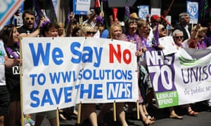 NHS workers' demonstration on 30 June, London