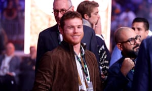 Canelo Alvarez arrives for the fight