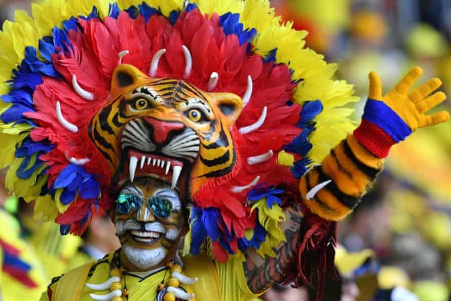 Colombia fans brought colour and fun.