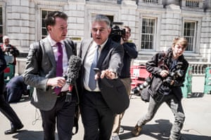 London, England Brandon Lewis, chairman of the Conservative party, leaves a cabinet meeting