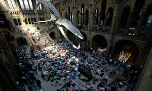 The Natural History Museum 'die-in'.