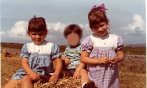 Joanna Biggs (right) with her sister, Theresa (left), in the 1970s.