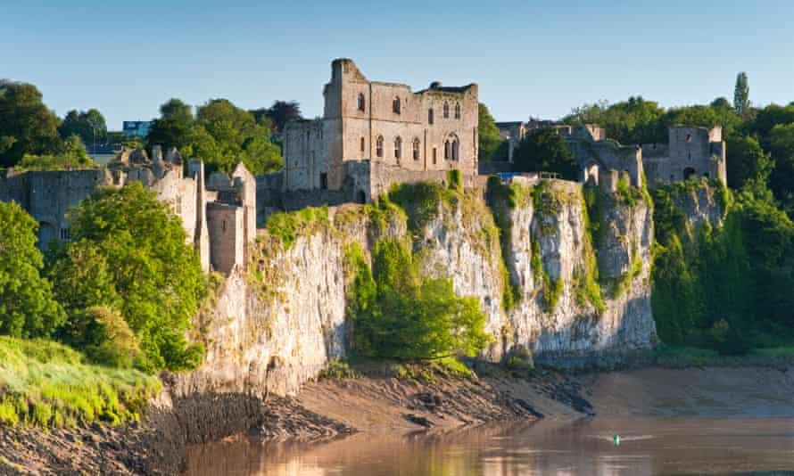 Chepstow Castle on the River Wye.
