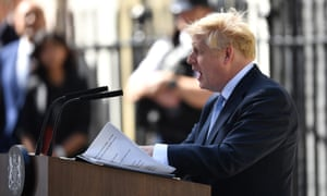 Boris Johnson gives his first speech in Downing Street