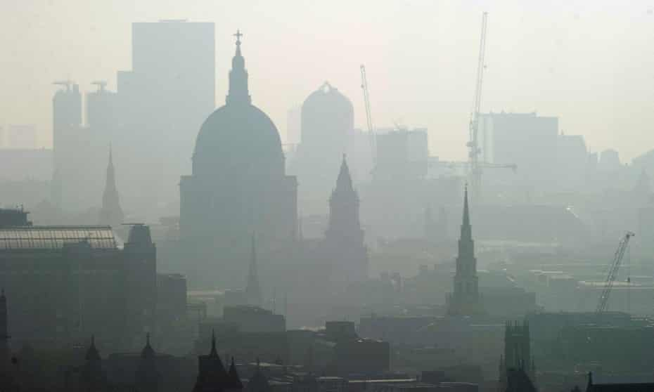 St Paul's cathedral seen through smog