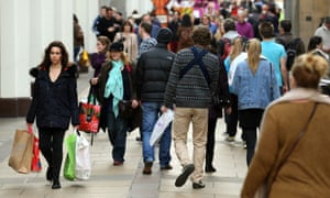 A busy day in Cambridge, but even the prosperous university town has seen a fall in shopper numbers.