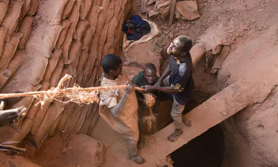 cobalt miners in congo