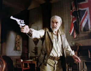 As Quatermain in a scene from The League of Extraordinary Gentlemen, 2003