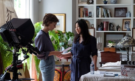 Director Unjoo Moon (right) with Tilda Cobham-Hervey on the set of I Am Woman.