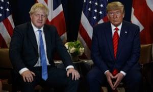 Boris Johnson and Donald Trump in New York