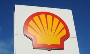 A Royal Dutch Shell logo.