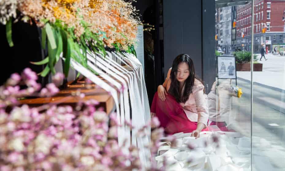 Amanda Phingbodhipakkiya and the May We Know installation.