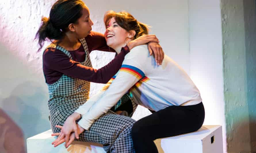 Nicole Sawyerr and Amy Blair in Words, by April de Angelis, in The Words Are Coming Now at Theatre503, London.