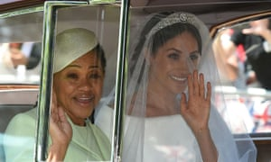 Meghan Markle and her mother, Doria Ragland, on their way to the wedding in 2018. 'It was never going to end well,' says Kehinde Andrews. 'The only surprise is that it's happened this quick.'