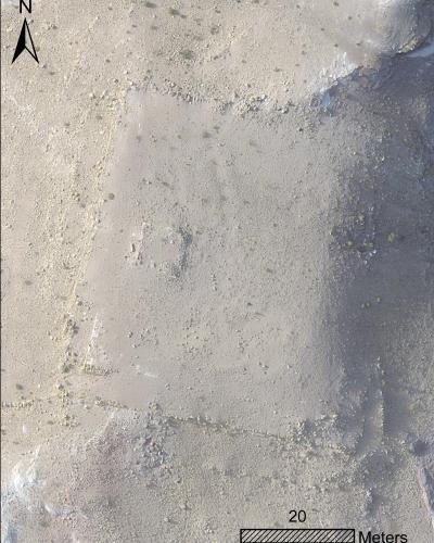 Zoomed-in UAV image of platform.