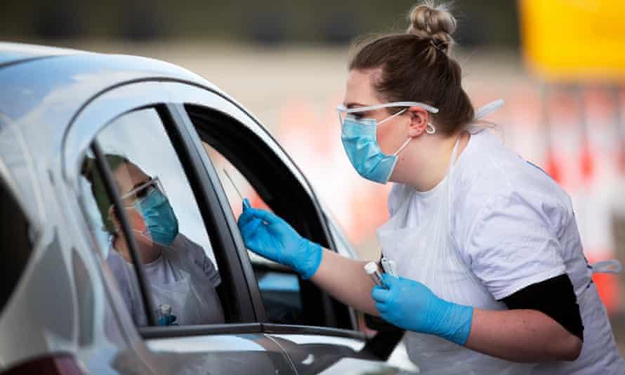 Drive-through coronavirus test