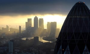 Summer Budget 2015<br>File photo dated 25/02/10 of the 'Gherkin' and Canary Wharf at sunrise in the City of London as Chancellor George Osborne is to deliver his first post-election Budget. PRESS ASSOCIATION Photo. Issue date: Wednesday July 8, 2015. See PA BUDGET stories. Photo credit should read: Stefan Rousseau/PA Wire