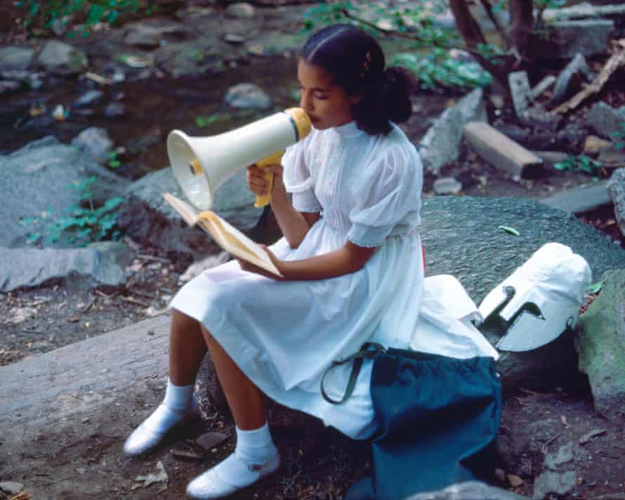'All of these slogans are utopian phrases' … Lorraine O'Grady's Rivers, First Draft: A Little Girl with Pink Sash Memorizes her Latin Lesson