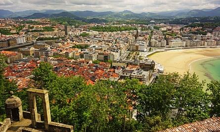 View of San Sebastian from Monte Urgull.