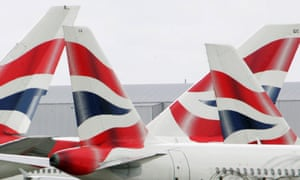 BA tailfins at Heathrow airport