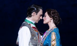 Two cast members in Opera Australia's production of The Merry Widow