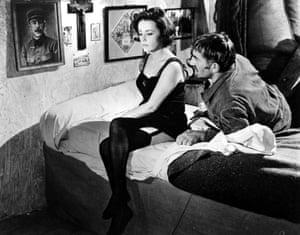 Jeanne Moreau and Georges Géret in Le journal d'une femme de chambre, 1964