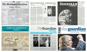 Guardian Weekly covers through the ages.