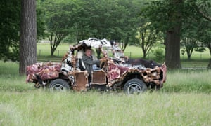 'Environmentalism doesn't work' … last week, Clarkson contrived to build a structure made entirely from leftover butchers' bones.
