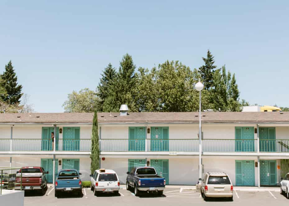 Medford, Oregon, hotel that houses refugees from the Alameda fire.