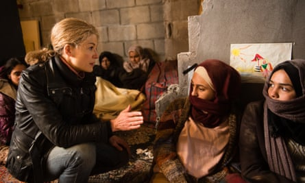 '>y God. She doesn't realise I'm not a journalist': Rosamund Pike in A Private War.