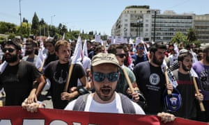 An anti-austerity rally in Athens