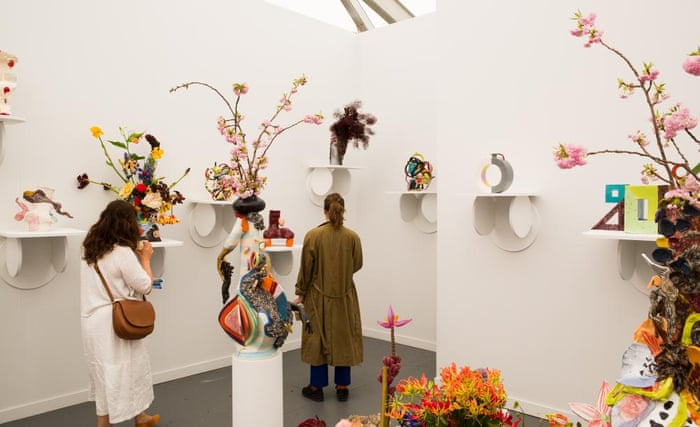 The Spanish/Mexican gallery Travesia Cuatro, showing vases by Milena Muzquiz