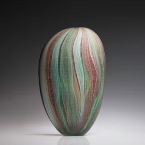 Quiet Shifting, Orange and Pale Green by Clare Belfrage