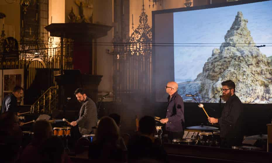 Cathedral of sound ... Sō Percussion perform From Out a Darker Sea.