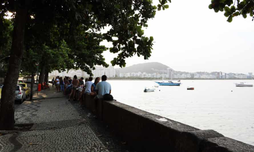 Bar Urca looks out over Guanabara Bay, Rio de Janeiro, Brazil