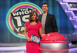 'The Whole 19 Yards' TV Programme. - 2010Editorial use only Mandatory Credit: Photo by ITV/REX/Shutterstock (1214780a) Caroline Flack and Vernon Kay 'The Whole 19 Yards' TV Programme. - 2010 The Whole 19 Yards is a brand new, action-packed game show coming to ITV1 this spring. Players compete to win a big cash prize by answering general knowledge questions on the buzzer. But on this show knowing the answer and getting to the buzzer are two different issues, because player and buzzer are separated by 19 yards of gruelling, entertaining, and sometimes downright ridiculous physical obstacles and challenges.