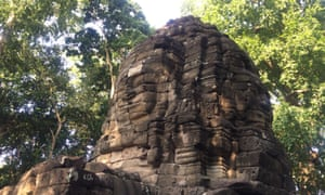 A face in the ruins at Banteay Chhmar, Cambodia.