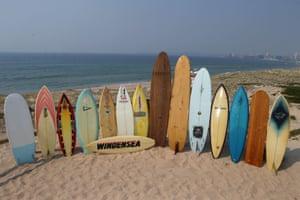 Surfboards on Cronulla beach