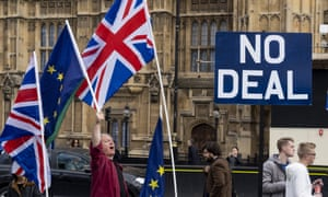 Protesters outside parliament in London