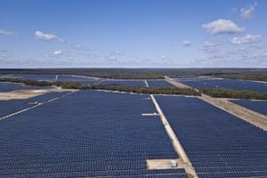 Darling Downs solar farm near Dalby, Queensland.