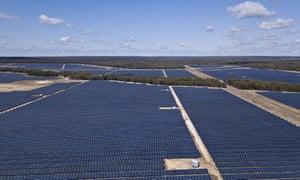A file photo of a solar farm near Dalby, Queensland