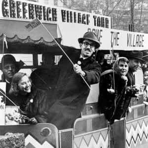 Residents of Greenwich Village oppose Robert Moses' plans to build the lower manhattan expressway in 1960.