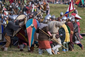 Battle Of Hastings Revisited Hundreds Reenact Conflict Of   Fighters Attack Conscience Essay also Interesting Essay Topics For High School Students  Synthesis Essays