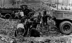 A Works Progress Administration (WPA) crew rebuilding the Morris Canal in New Jersey. Much of the infrastructure of modern America was built by New Deal inititatives.