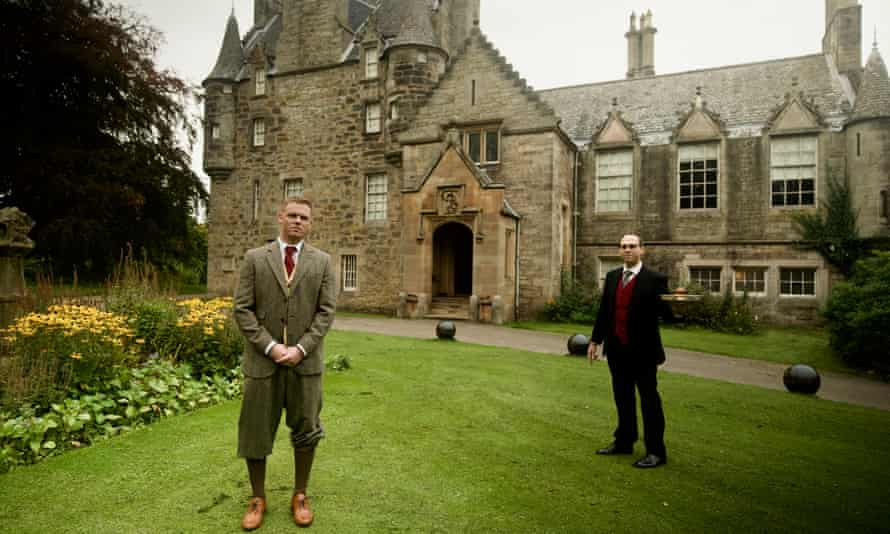 Darren McGarvey, left, meets the butler at Lauriston Castle, Edinburgh, in episode one.