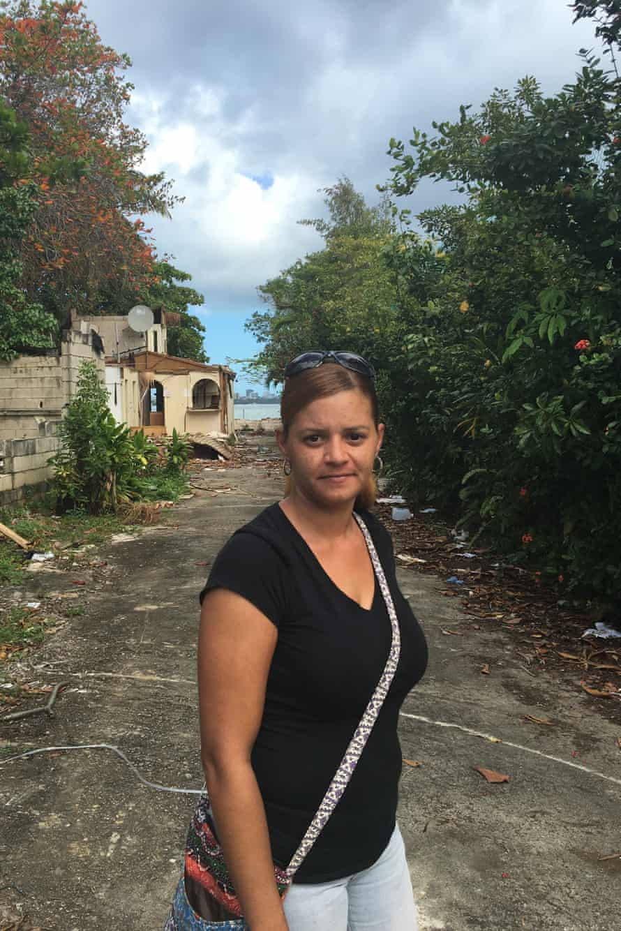 """Sheida Franqui Torres, 36, her home and hundreds of others in Puerto Rico's Vietnam neighbourhood are being forcibly bulldozed to make way for a new luxury hotel and casino complex. """"They want to move all of us from here so that they can construct a hotel,"""" she said. """"It's a nice plan for her rich people, but not for me or the other people who have live, some of them, for more than 50 years."""""""